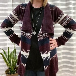 Urban Heritage Purple Waterfall Cardigan